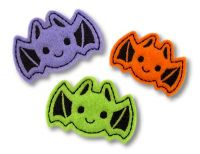 Bat Clip Cover Felt Stitchies