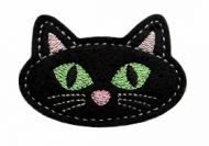 Black Cat Clip Cover Felt Stitchies