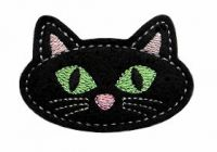 Black Cat Clip Cover Felt Stitchies
