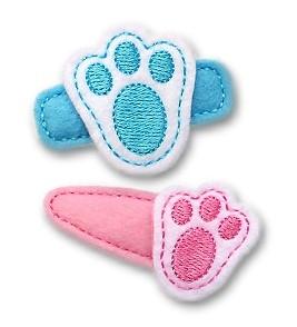 Bunny Foot Felt Stitchies