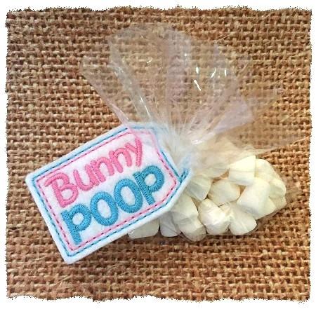 Bunny Poop Treat Bag Topper