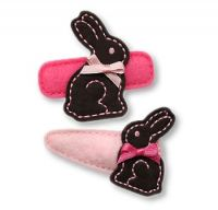 Chocolate Bunny Felt Stitchies