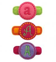 Circle Monogram Felt Stitchies