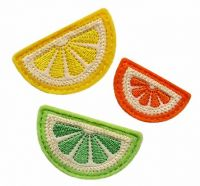Citrus Slice Clip Cover Felt Stitchies