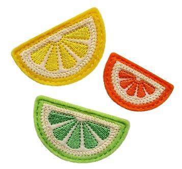 Citrus Slice Clip Cover Felt Stitchies