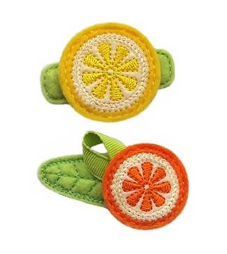 Citrus Round Felt Stitchies