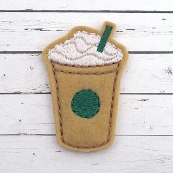 Frozen Coffee Felt Stitchies