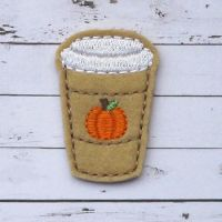 Pumpkin Spice Coffee Felt Stitchies