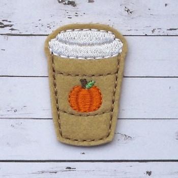 Pumpkin Spice Coffee Felt Stitchies