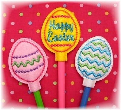 Easter Egg Pencil Toppers