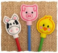 Farm Animal Pencil Toppers