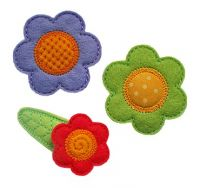 Flower Clip Cover Felt Stitchies