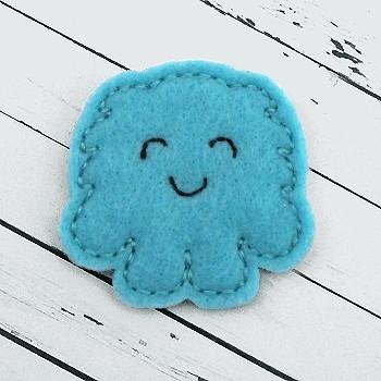 Fluffy Monster Boy Felt Stitchies
