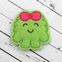 Fluffy Monster Girl Felt Stitchies