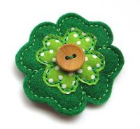 Four Leaf Clover Clip Cover Felt Stitchies