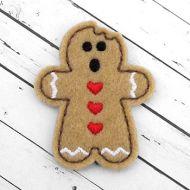 Bitten Gingerbread Felt Stitchies