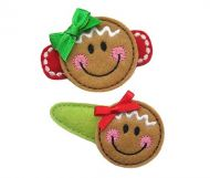 Gingerbread Face Felt Stitchies