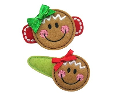 Gingerbread Face Felt Stitchies