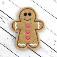 Gingerbread Felt Stitchies