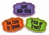 Halloween Sayings Clip Cover Felt Stitchies