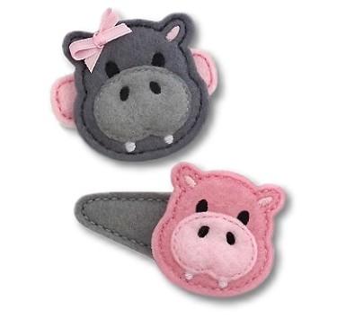 Hippopotamus Felt Stitchies