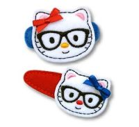 Nerd Kitty Felt Stitchies