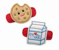 Milk and Cookies Felt Stitchies