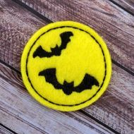 Moon with Bats Felt Stitchies
