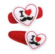 I Love Mustaches Felt Stitchies