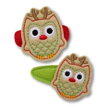 Owl Reindeer Felt Stitchies