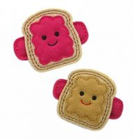 Peanut Butter and Jelly Felt Stitchies