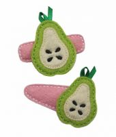 Pear Felt Stitchies