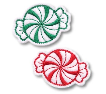 Peppermint Clip Cover Felt Stitchies