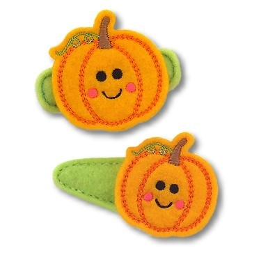 Cute Pumpkin Felt Stitchies