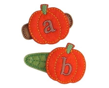 Pumpkin Monogram Felt Stitchies