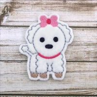 Puppy with Bow Felt Stitchies