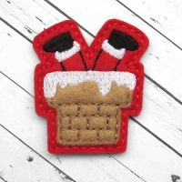 Santa in Chimney Felt Stitchies