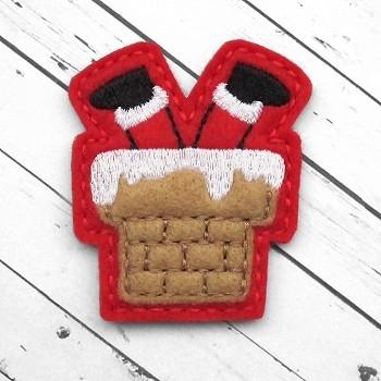 Santa in Chimney Felt Stitchies