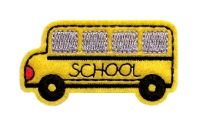 School Bus Clip Cover Felt Stitchies