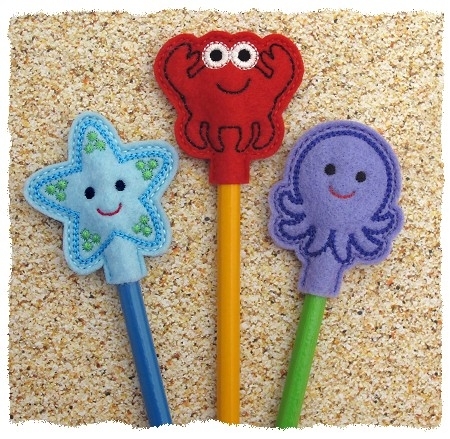 Sea Creature Pencil Toppers