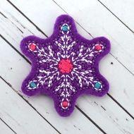 Delicate Snowflake Felt Stitchies