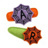 Spider Web Monogram Felt Stitchies