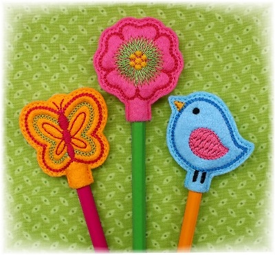 Spring Pencil Toppers