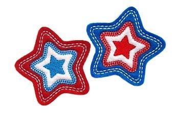 Star Clip Cover Felt Stitchies