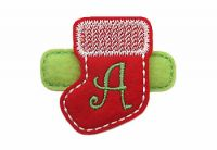 Christmas Stocking Monogram Felt Stitchies