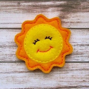 Sunshine Felt Stitchies