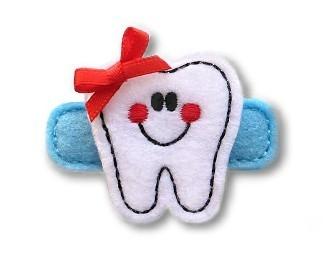 Happy Tooth Felt Stitchies