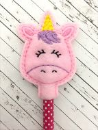 Unicorn Head Pencil Topper