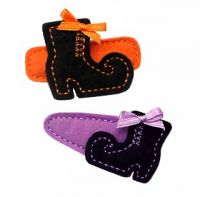 Witch Boot Felt Stitchies