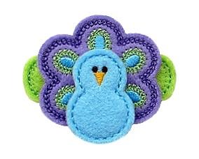 Peacock Felt Stitchies